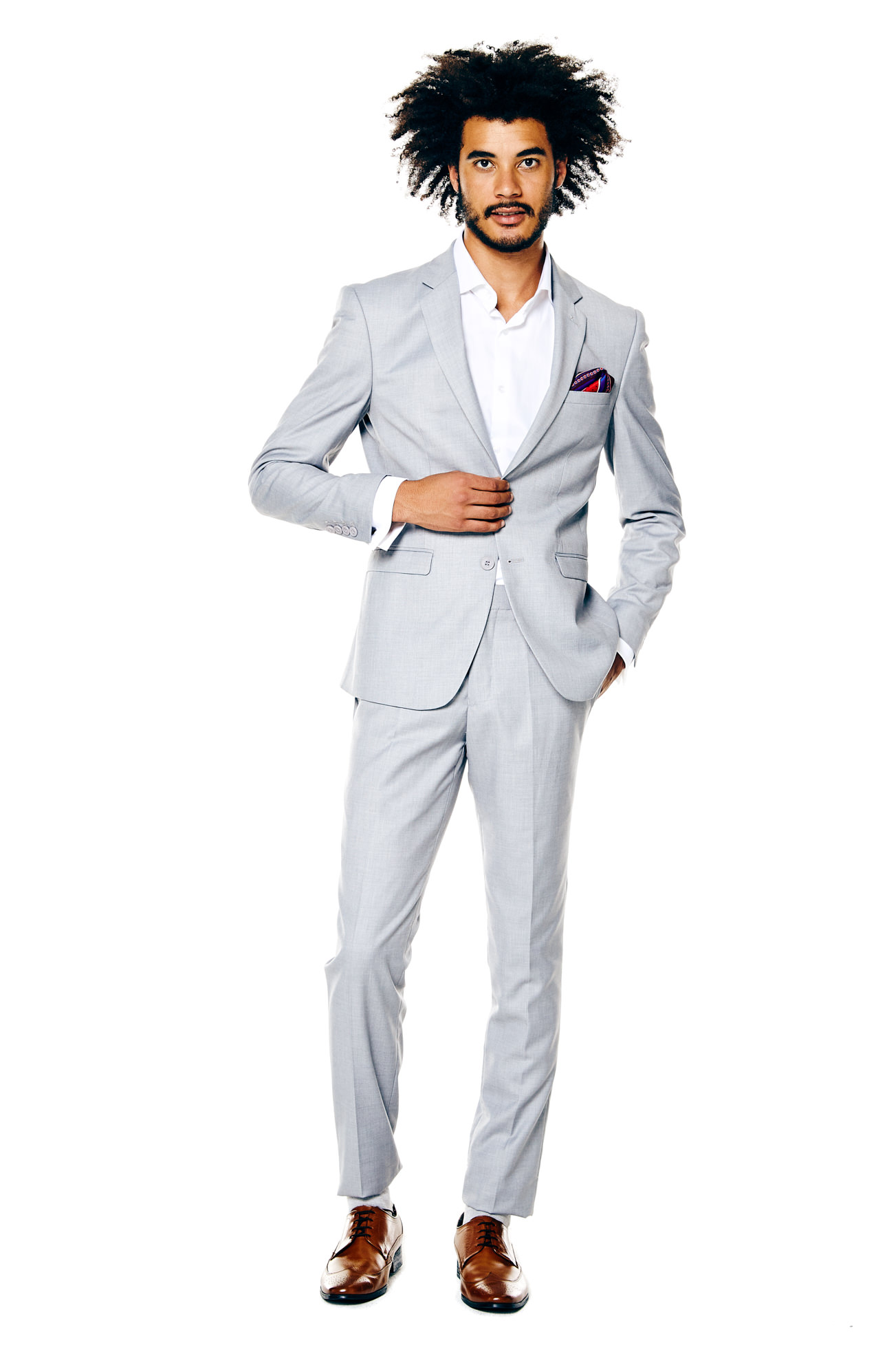 Get The Look Suit Separates Grey Jacket Navy Pants And