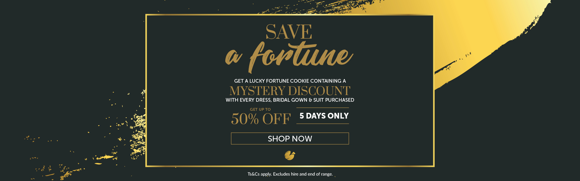 Promo Banner Bride&co Deal of the month April 2018
